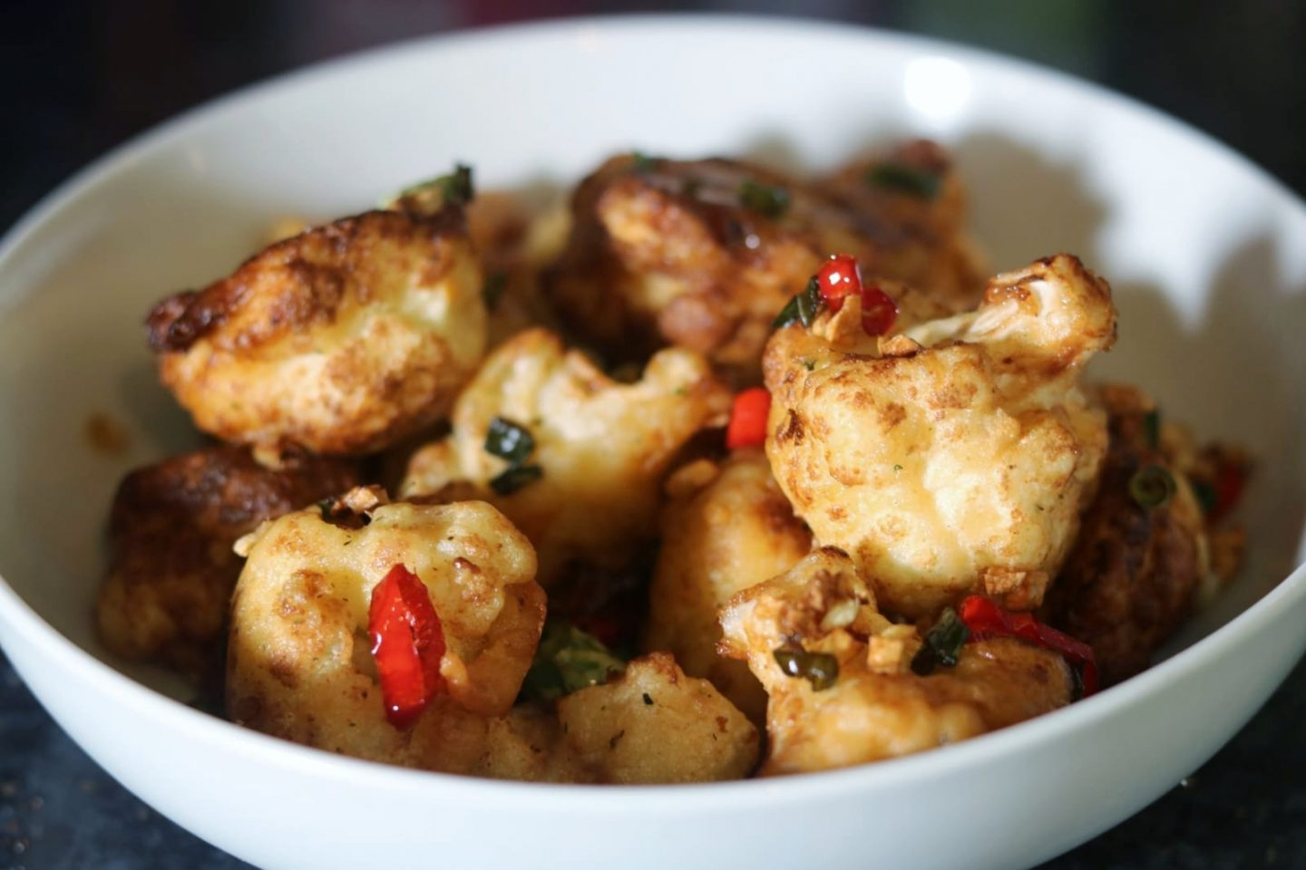 Chinese Style Salt And Pepper Cauliflower.